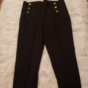 Black ankle casual work pants